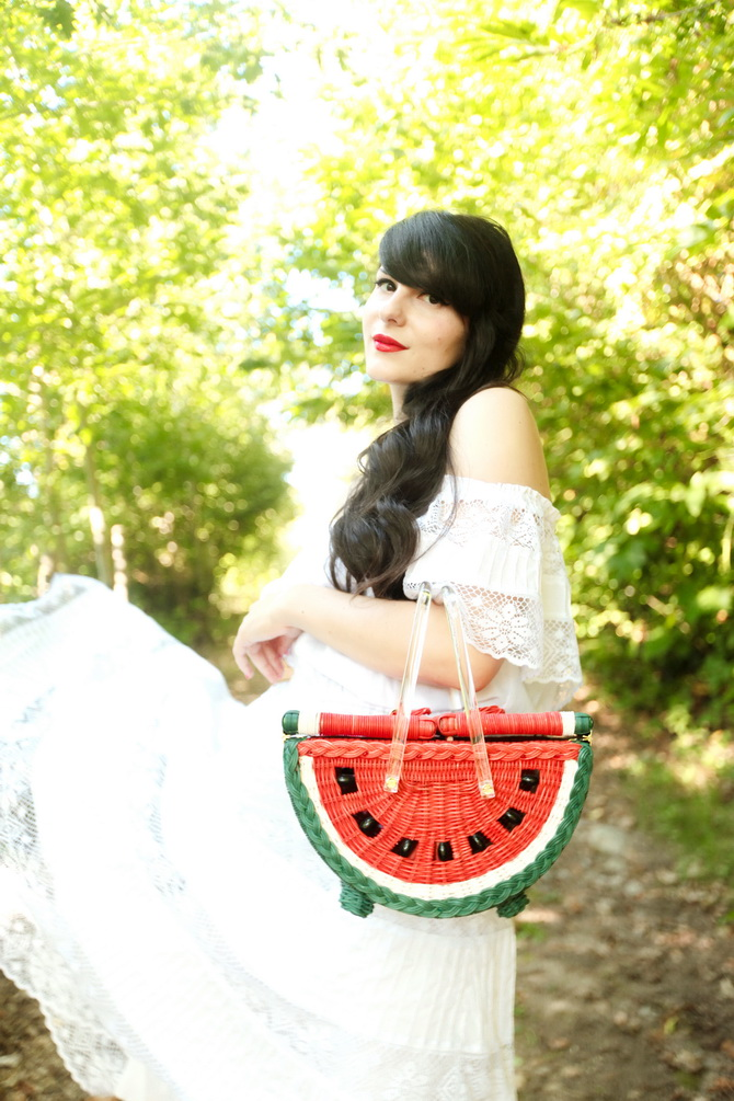 The Cherry Blossom Girl - Charlotte Olympia Watermelon Basket 09