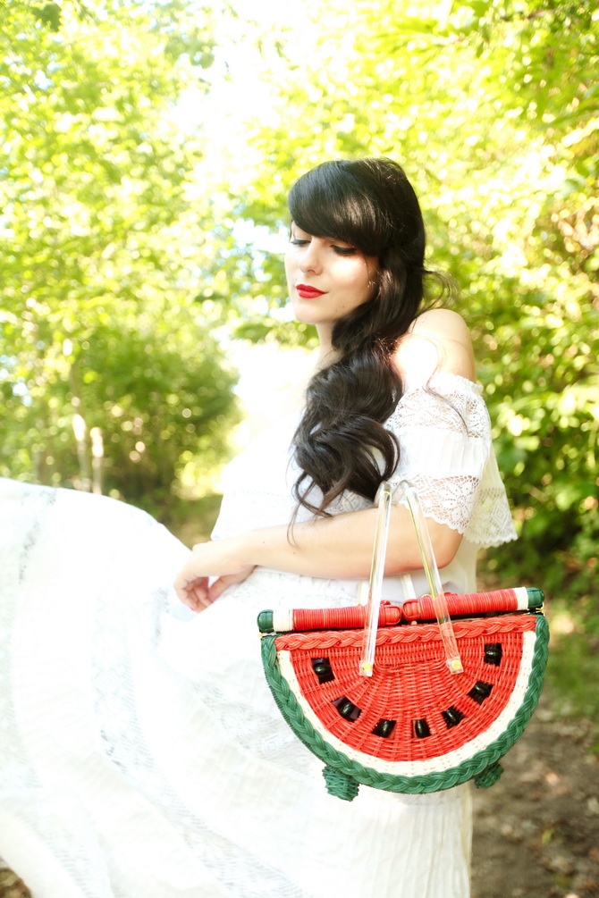 The Cherry Blossom Girl - Charlotte Olympia Watermelon Basket 13