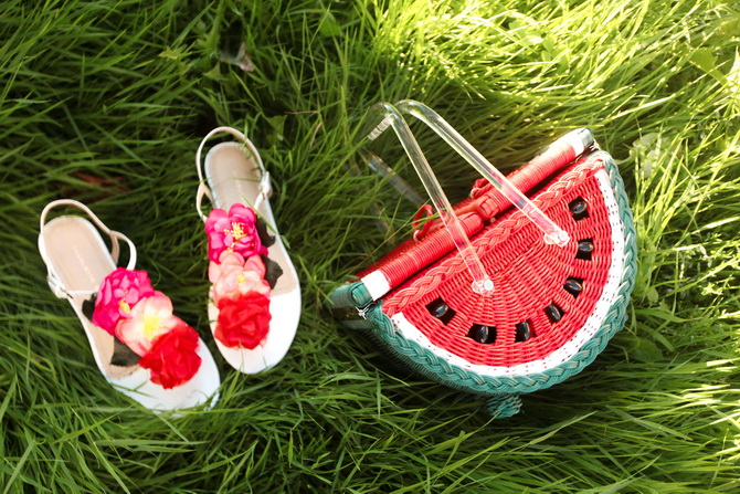 The Cherry Blossom Girl - Charlotte Olympia Watermelon Basket 15