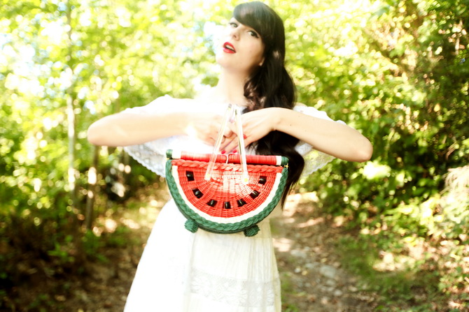 The Cherry Blossom Girl - Charlotte Olympia Watermelon Basket 17