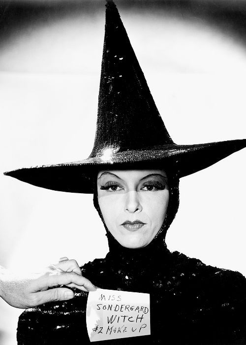Gale Sondergaard in a makeup test for The Wizard of Oz